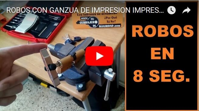 ROBO GANZUA IMPRESION